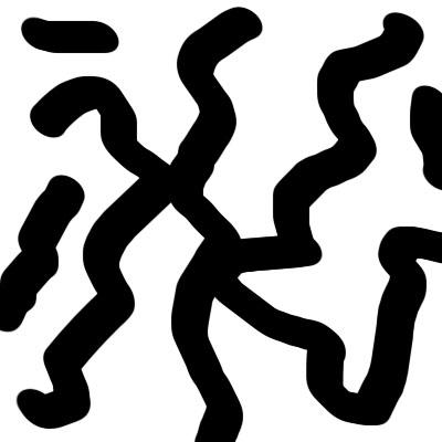 """1. Создаем новый документ любого размера.  Жмем  """"D """", чтобы сделать передний фон черным, а задний белым."""
